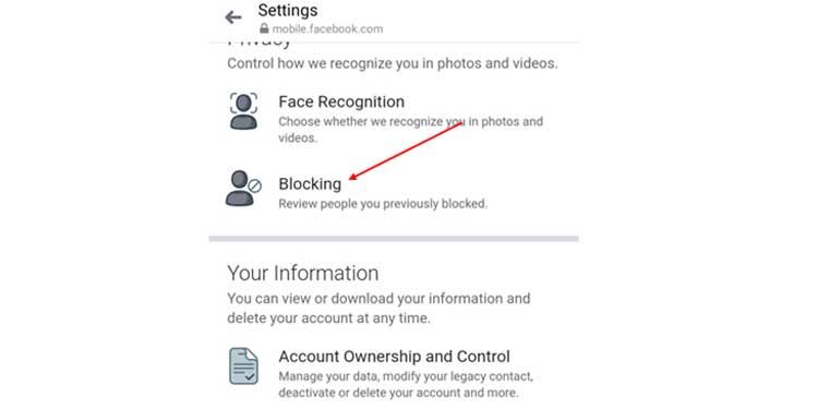 Block Settings on App