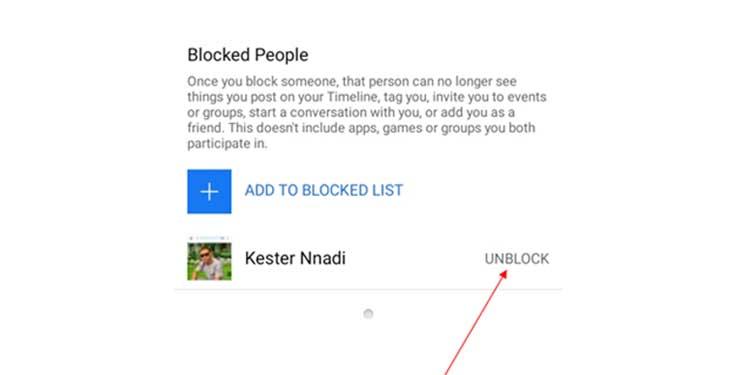 Unblock a friend on phone